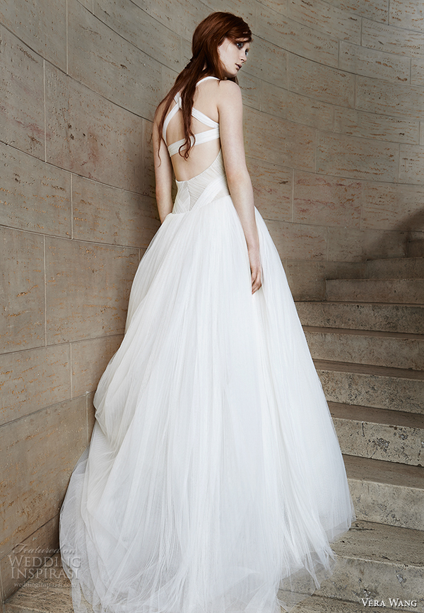 vera wang spring 2015 bridal collection wedding dress 11 back view