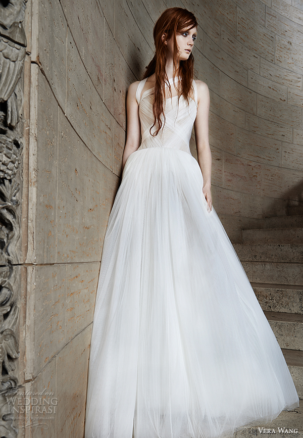 vera wang spring 2015 bridal collection wedding dress 11 front view
