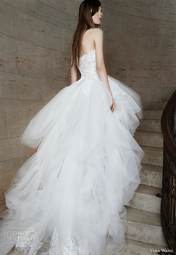 vera wang spring 2015 bridal collection wedding dress 12 back view