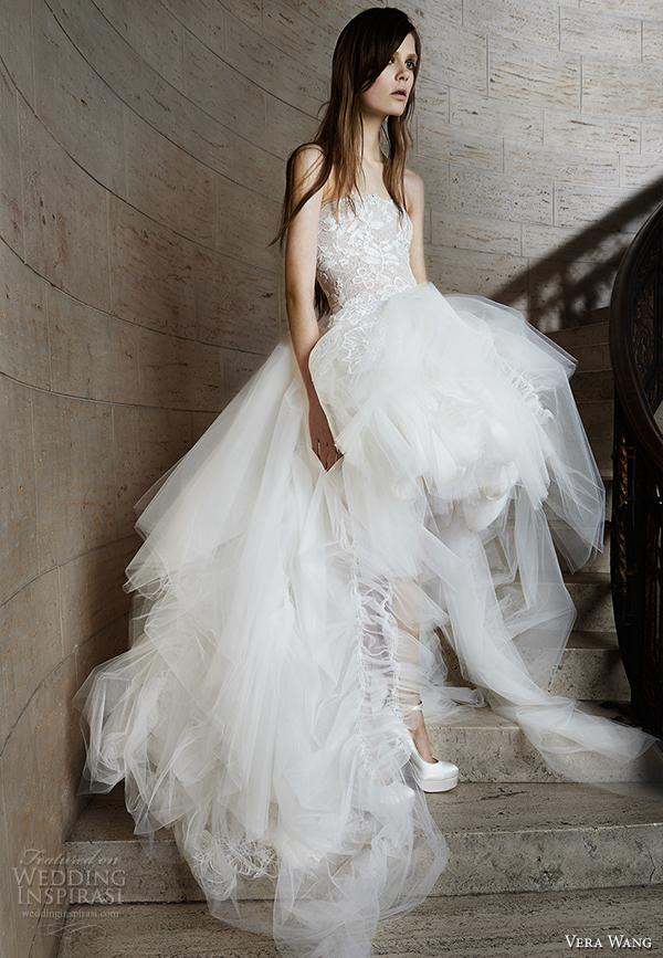 vera wang spring 2015 bridal collection wedding dress 12 front view