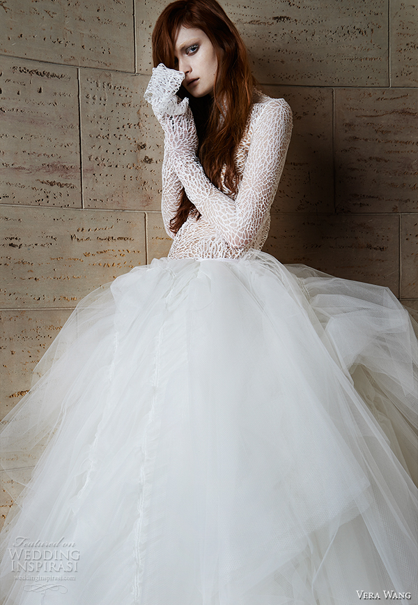 vera wang spring 2015 bridal collection wedding dress 13 front view
