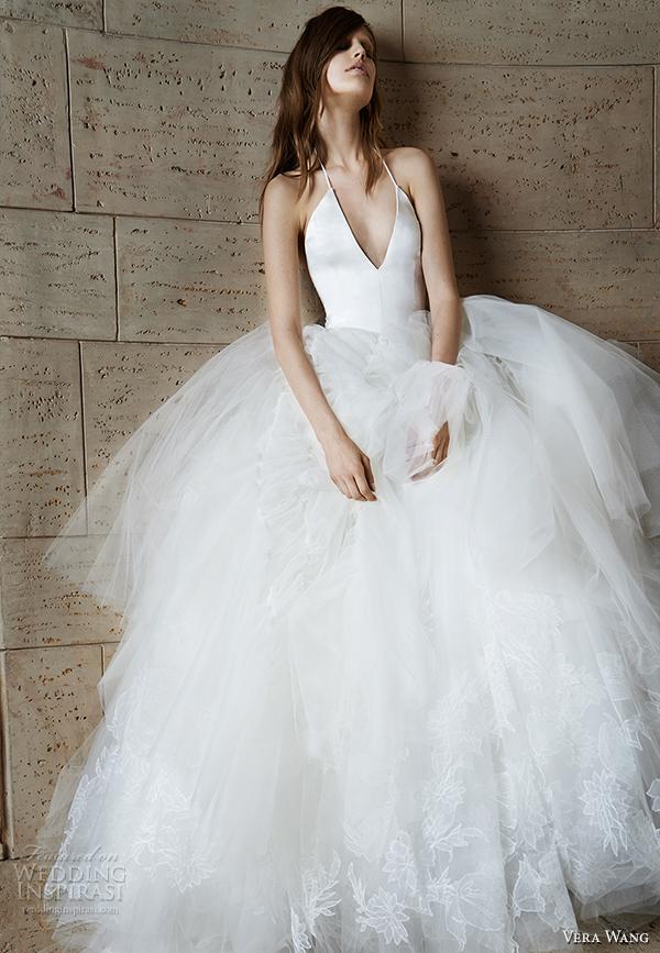 vera wang spring 2015 bridal collection wedding dress 14 front view