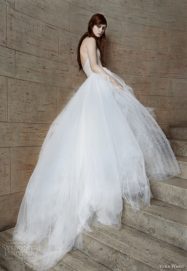 vera wang spring 2015 bridal collection wedding dress 15 back view