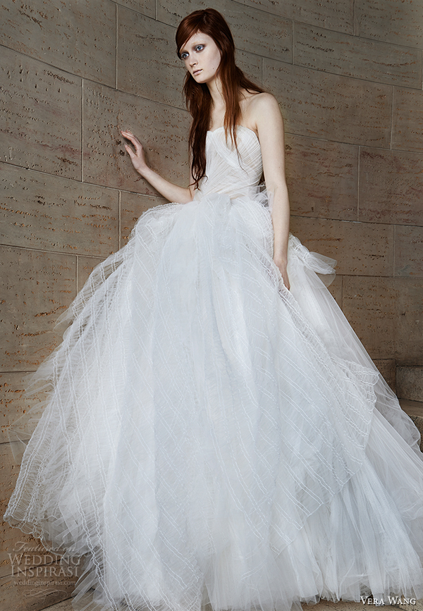 vera wang spring 2015 bridal collection wedding dress 15 front view
