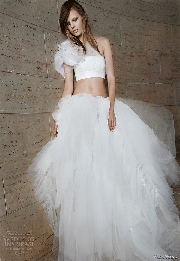 vera wang spring 2015 bridal collection wedding dress 16 front view