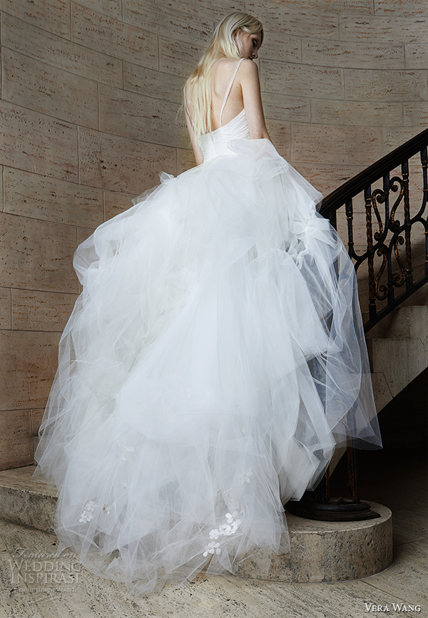 vera wang spring 2015 bridal collection wedding dress 17 back view