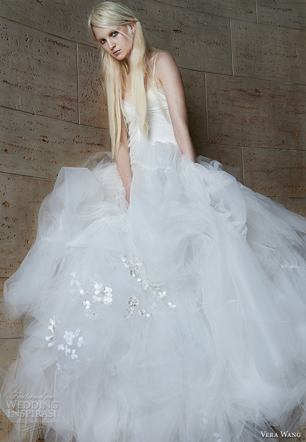 vera wang spring 2015 bridal collection wedding dress 17 front view
