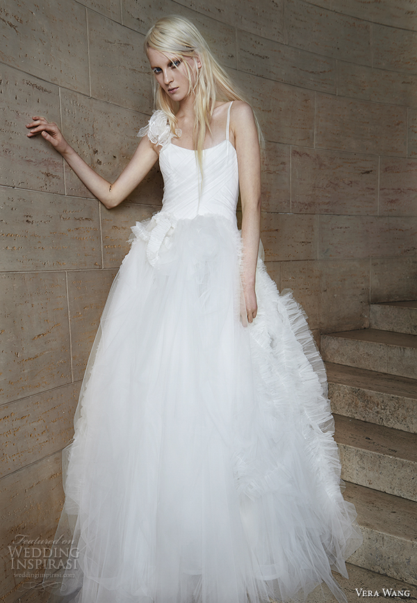 vera wang spring 2015 bridal collection wedding dress 18 front view