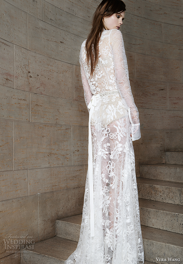 vera wang spring 2015 bridal collection wedding dress 2 back view