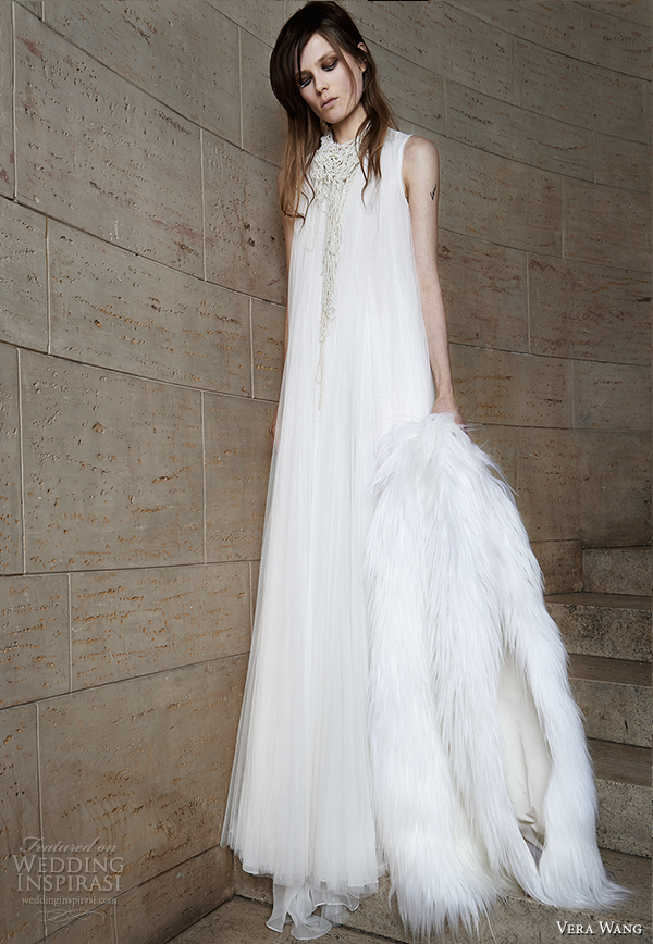 vera wang spring 2015 bridal collection wedding dress 3 front view