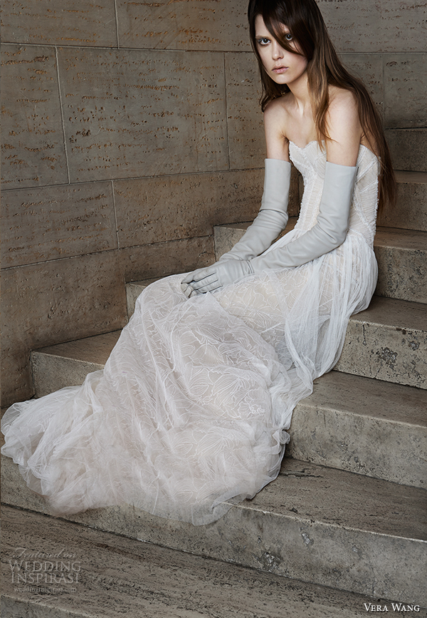 vera wang spring 2015 bridal collection wedding dress 4 front view