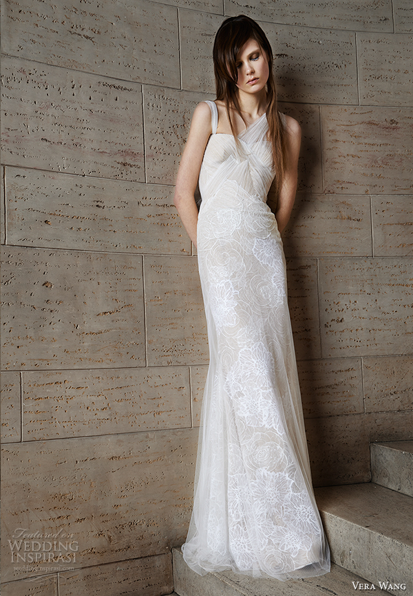 vera wang spring 2015 bridal collection wedding dress 5 front view