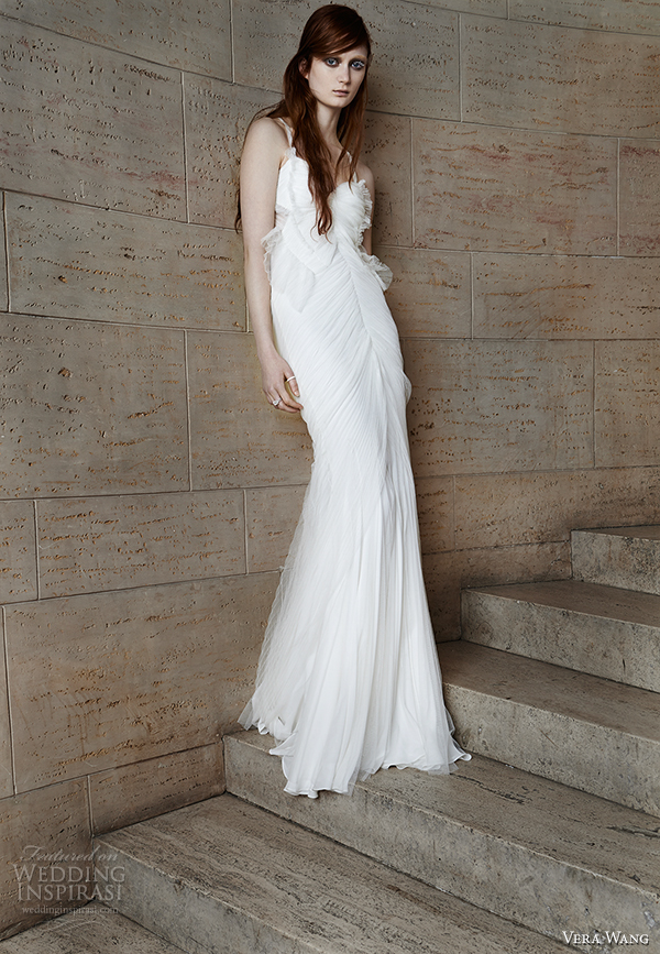 vera wang spring 2015 bridal collection wedding dress 6 front view