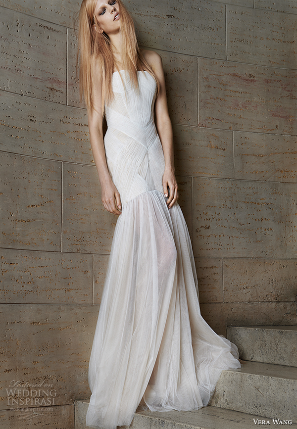 vera wang spring 2015 bridal collection wedding dress 8 front view