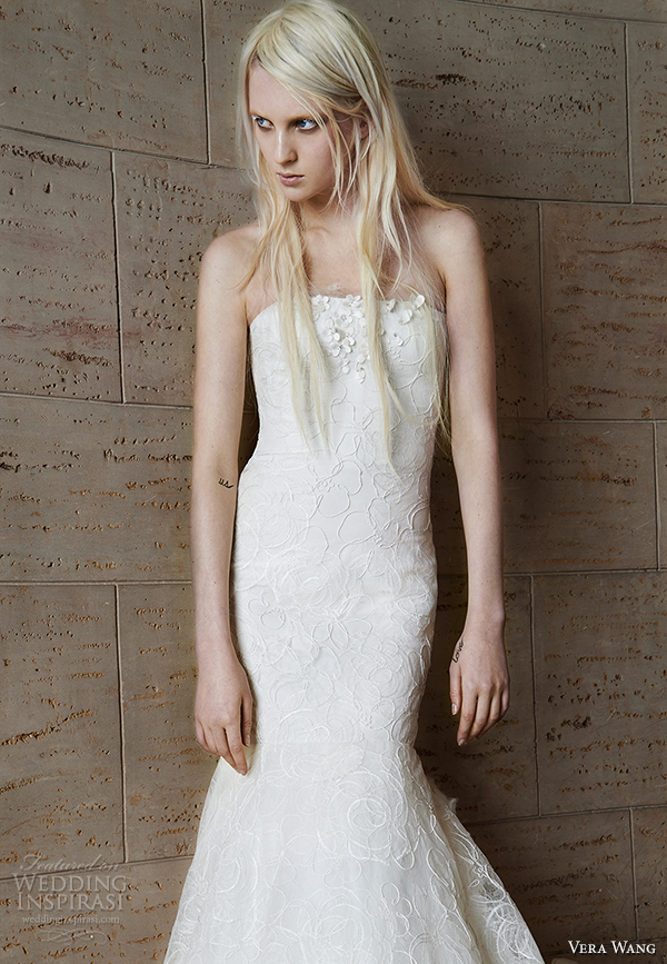 vera wang spring 2015 bridal collection wedding dress 9 front view