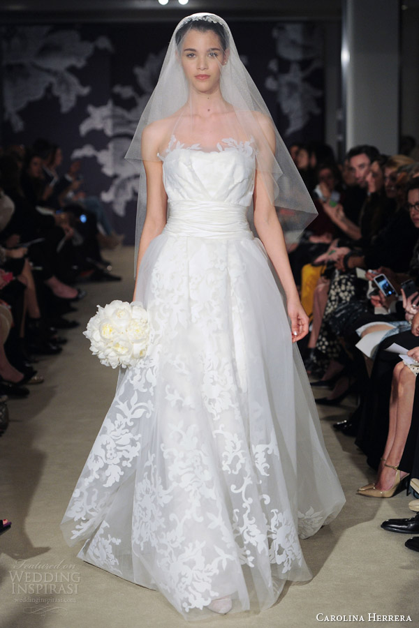 carolina herrera bridal spring 2015 celine wedding dress