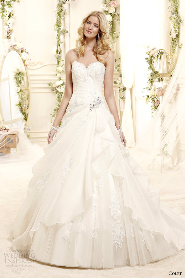 colet bridal 2015 style 1 coab15230iv sweetheart strapless a line wedding dress