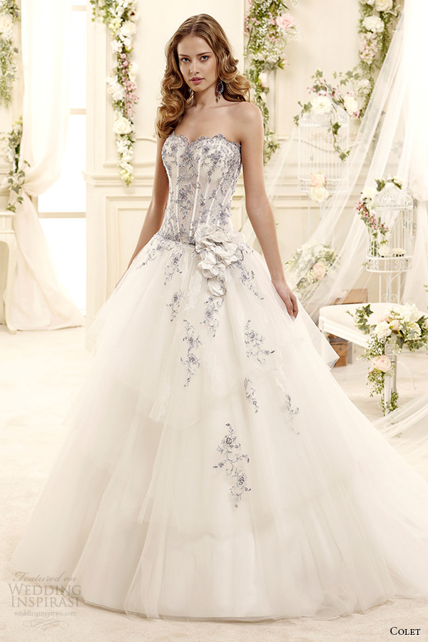 colet bridal 2015 style 11 coab15286ivlb sweetheart strapless a line light blue floral embroideried wedding dress