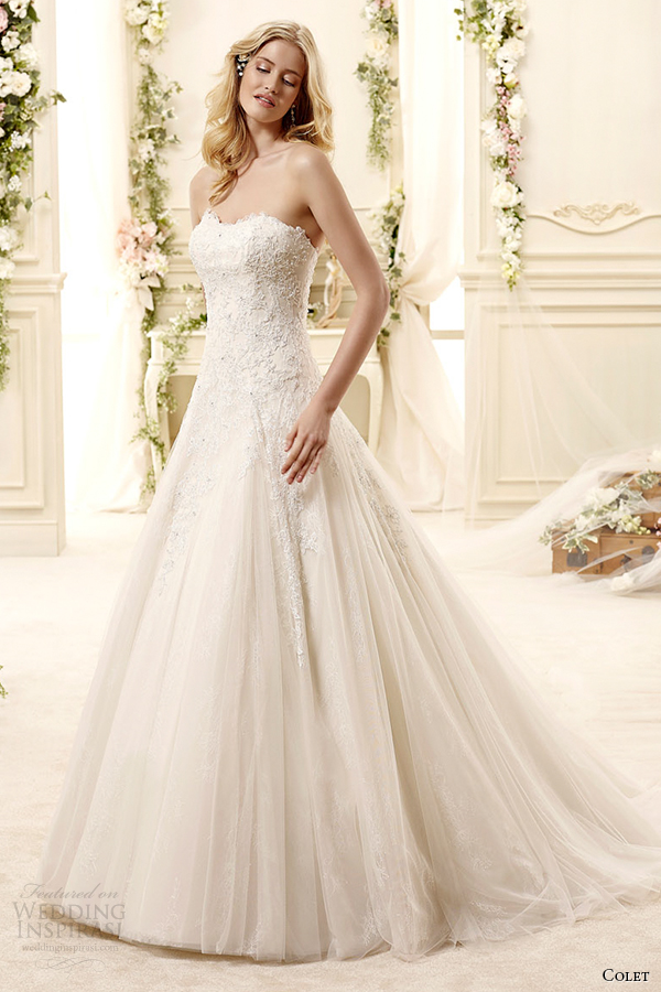 colet bridal 2015 style 16 coab15256iv sweetheart strapless a line wedding dress