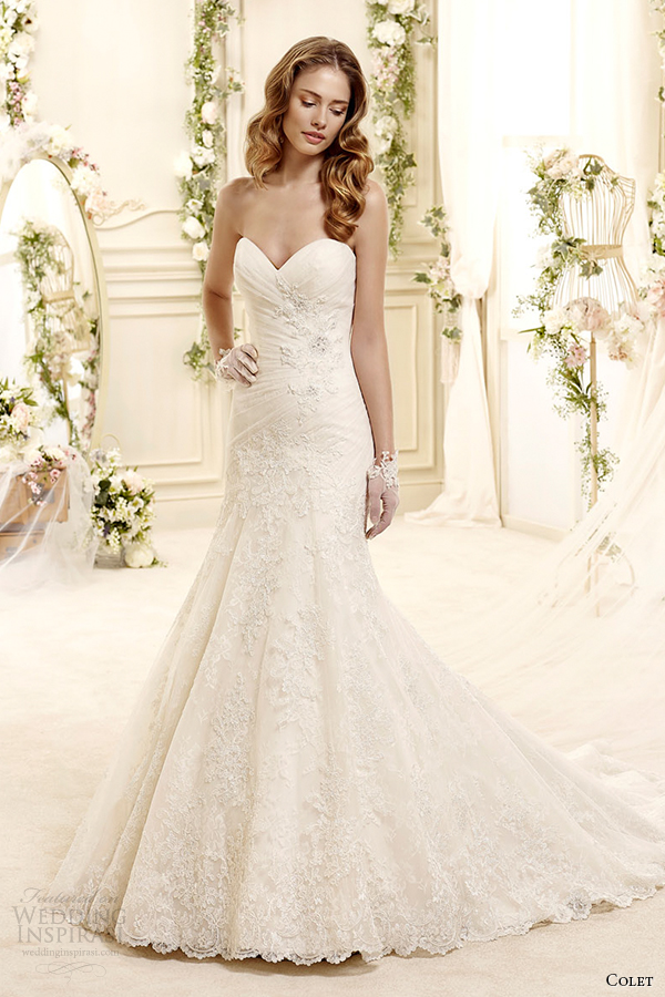 colet bridal 2015 style 2 coab15205di sweetheart strapless trumpet wedding dress