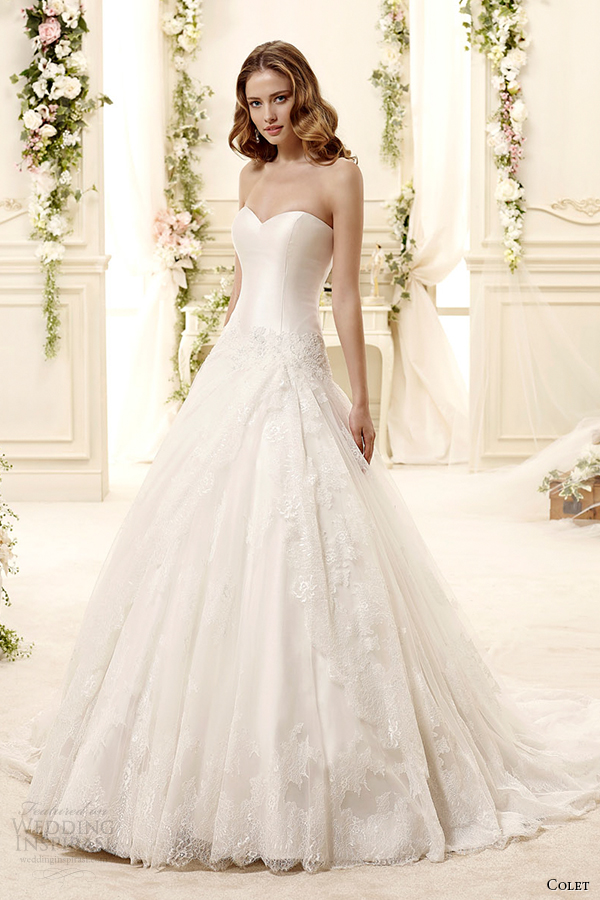 colet bridal 2015 style 9 coab15214iv sweetheart strapless a line wedding dress