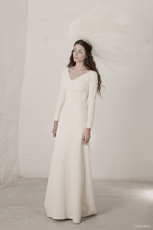 Cortana bridal 2015 wedding dresses wedding inspirasi for Long sleeve casual wedding dresses