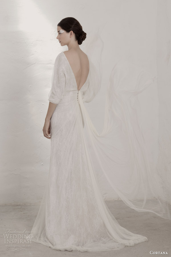 cortana 2015 bridal selene dress with sleeves open back
