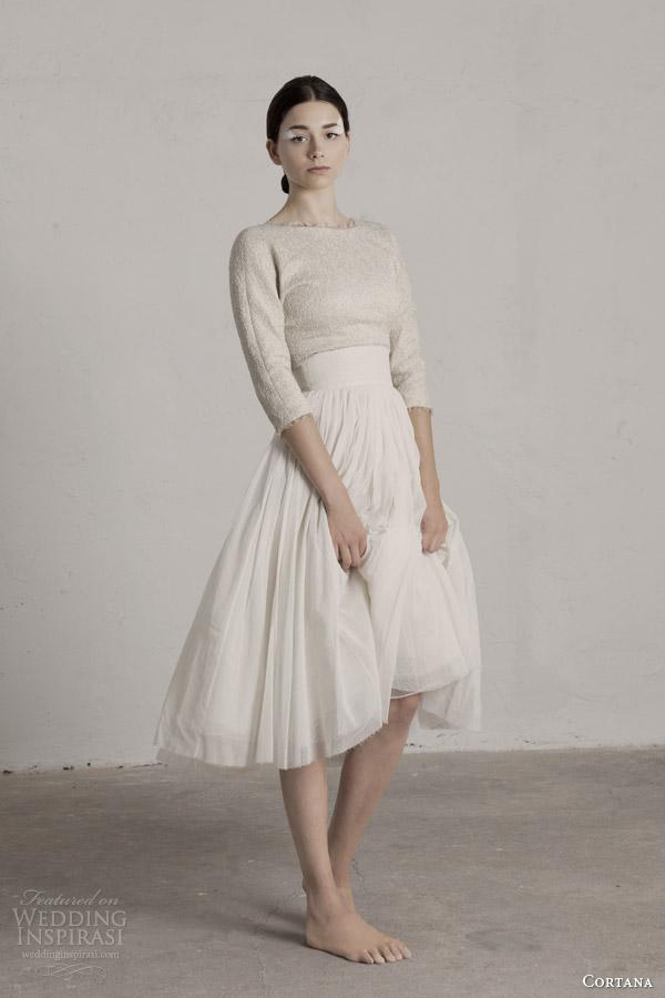 cortana bridal 2015 bucol top with sleeves peonia skirt