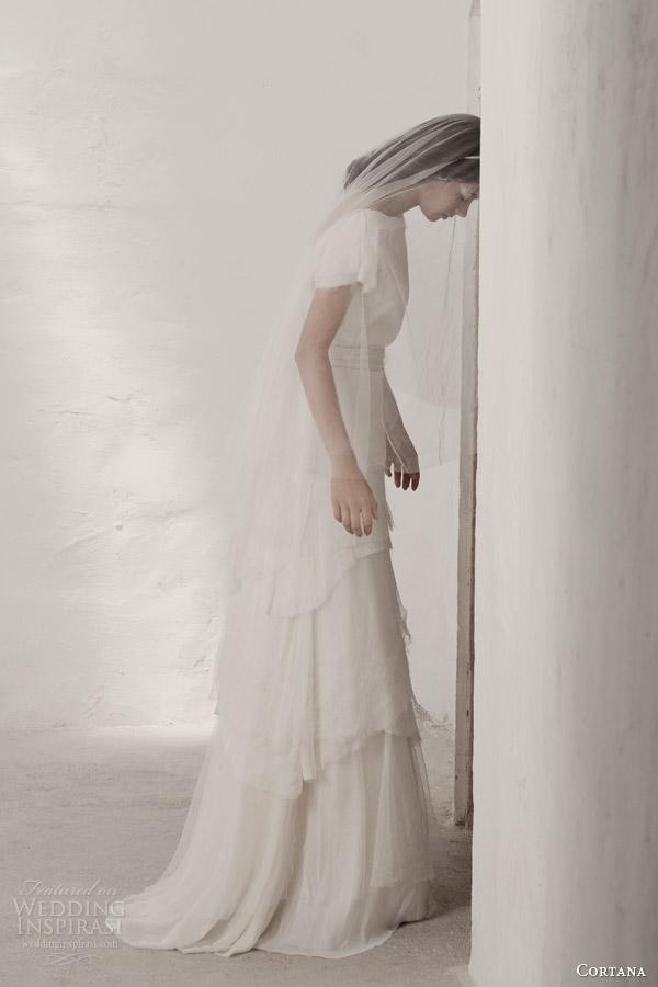 cortana bridal 2015 heras wedding dress tiered skirt side view