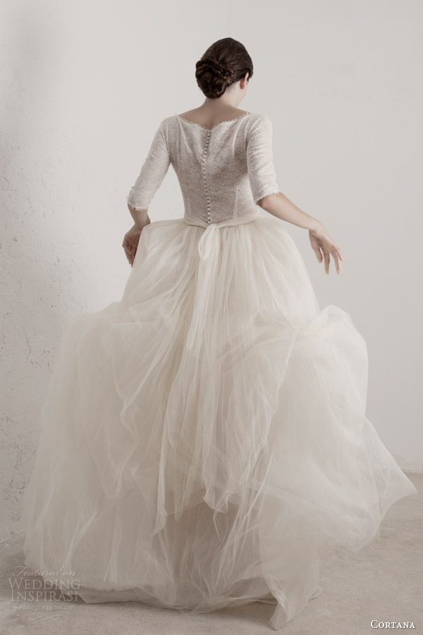 cortana bridal 2015 matilda wedding dress back view