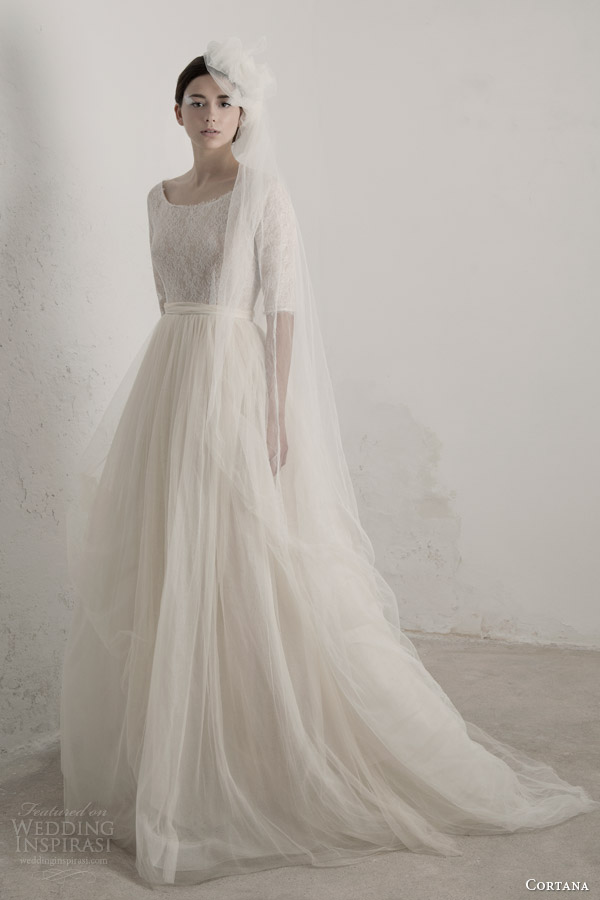 cortana bridal 2015 matilda wedding dress with half sleeves