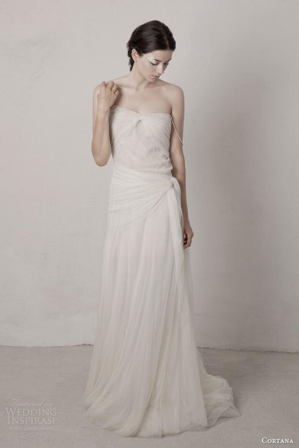 cortana bridal 2015 pearl wedding dress with straps