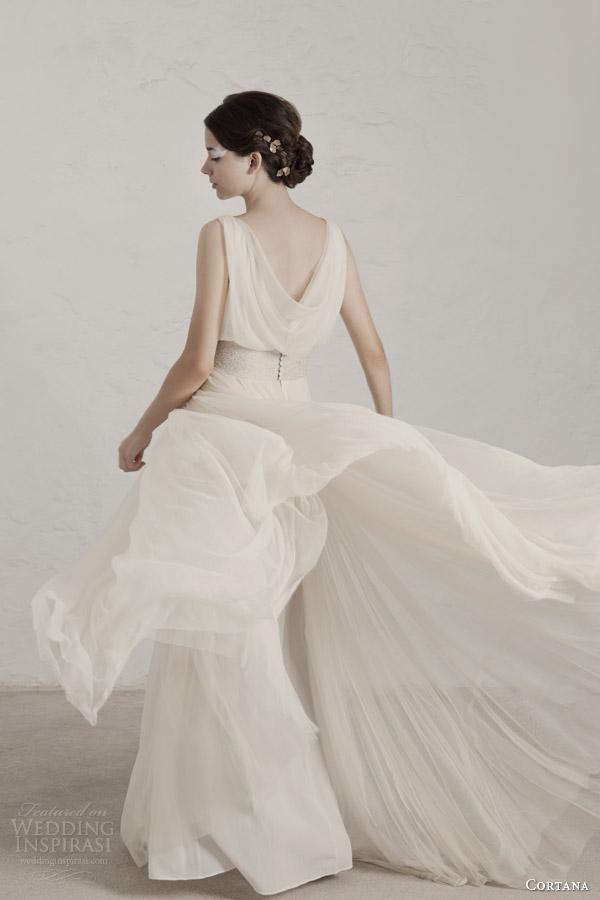 cortana wedding dresses 2015 degas sleeveless draped gown cowl back