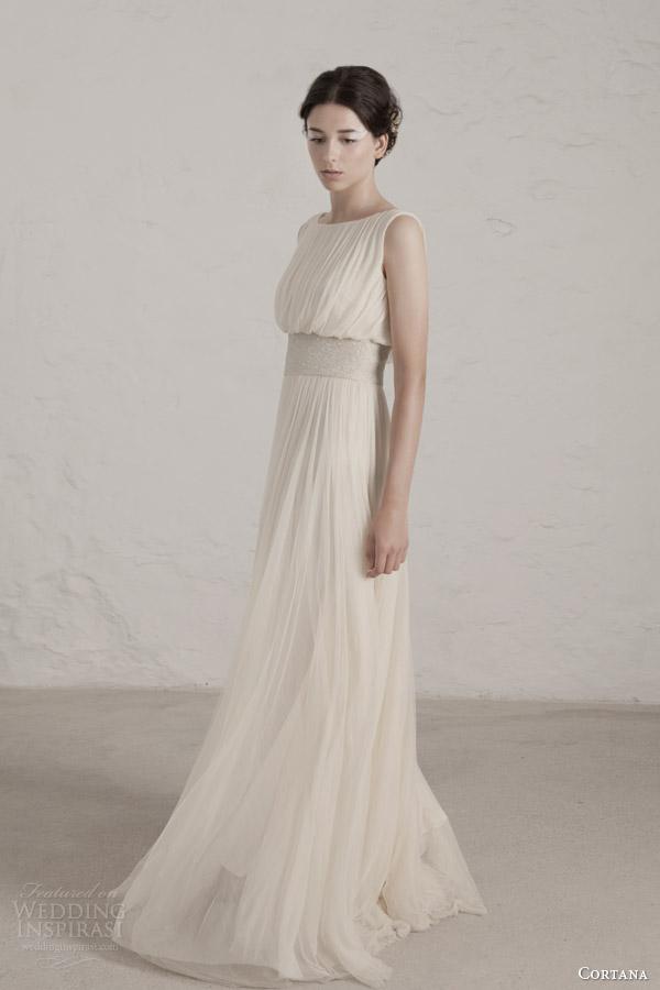 cortana wedding dresses 2015 degas sleeveless draped gown