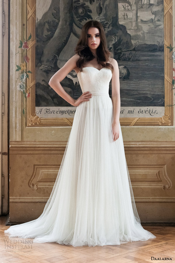daalarna 2014 strapless wedding dress