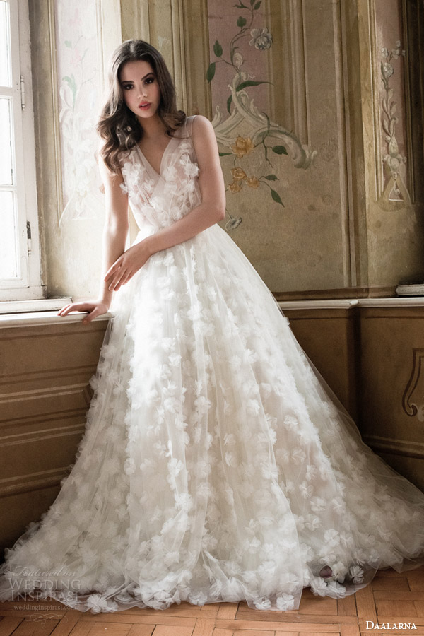 daalarna bridal 2014 sleeveless wedding dress
