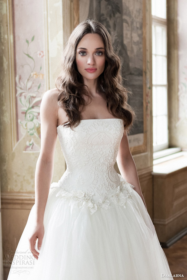 daalarna bridal 2014 strapless ball gown wedding dress