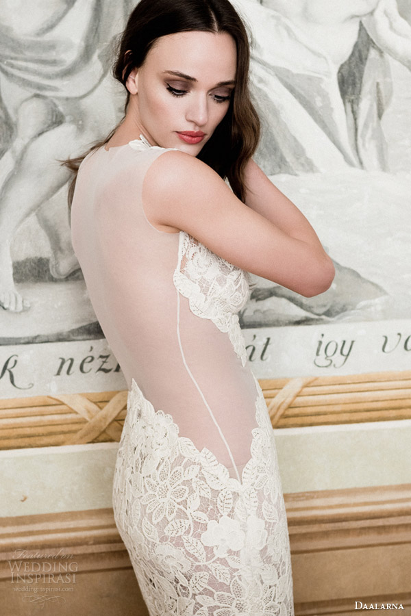 daalarna wedding dress 2014 sheer back view