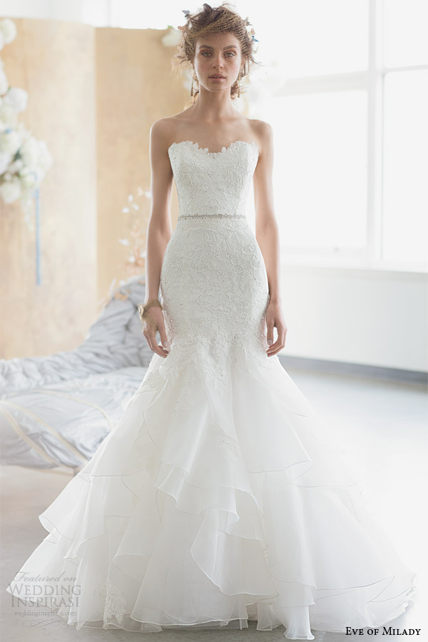 eve of milady 2014 2015 boutique collection strapless wedding dress style 1506