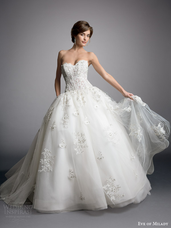 eve of milady boutique 2014 strapless ball gown wedding style 1523