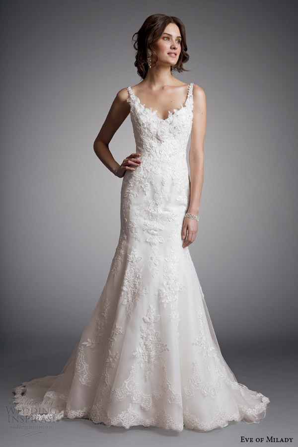 eve of milady bridal 2014 sleeveless sheath wedding dress style 1517