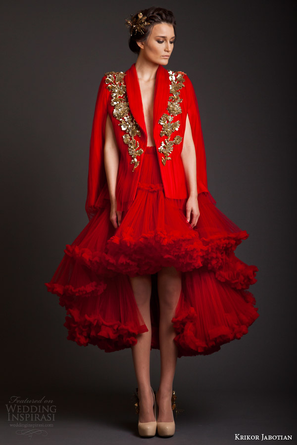 krikor jabotian akhtamar collection 2014 couture red dress jacket