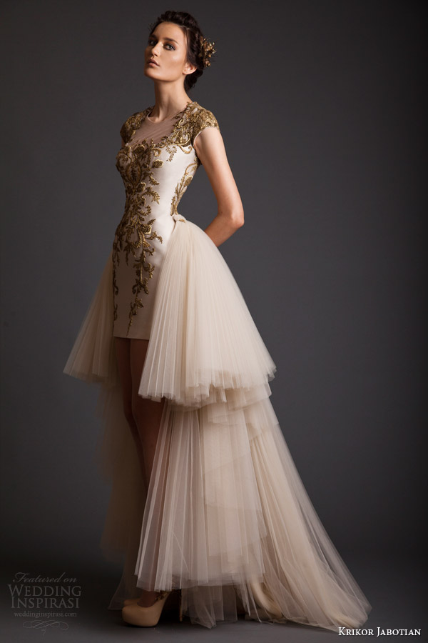 krikor jabotian akhtamar collection spring 2014 cap sleeve couture wedding dress