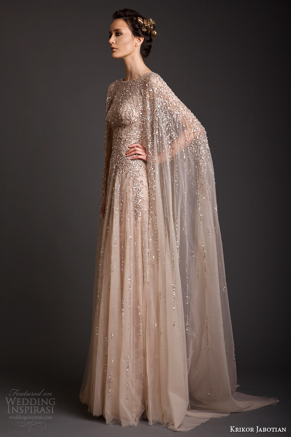 krikor jabotian couture spring 2014 sequin embellished gown side