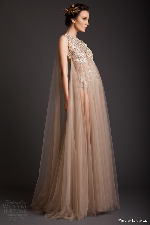 krikor jabotian couture spring 2014 sleeveless ethereal dress