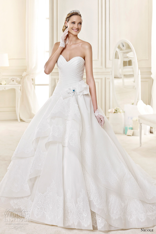 nicole spose bridal 2015 style 23 niab15080ivtf sweetheart strapless ballgown wedding dress
