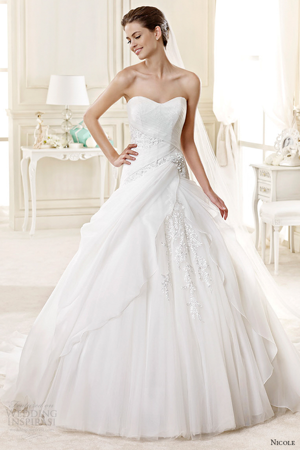Ball Gown Strapless Wedding Dresses 80 Beautiful nicole spose bridal style