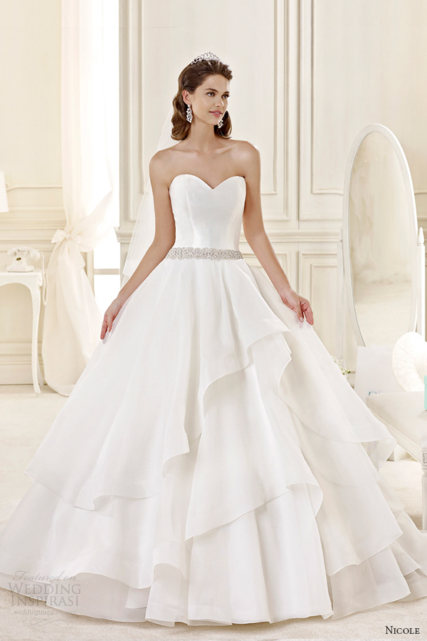 Tiered Wedding Dresses 29 Spectacular nicole spose bridal style