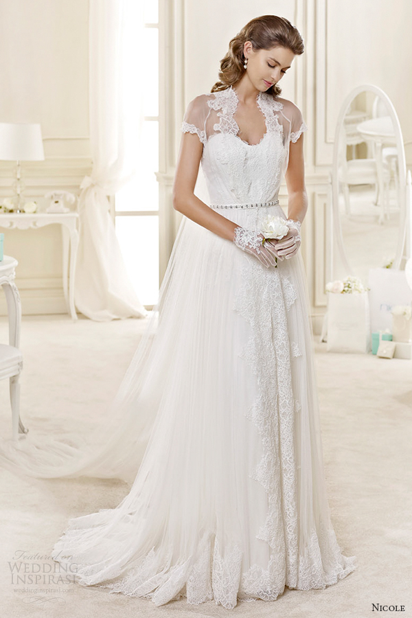 nicole spose bridal 2015 style 60 niab15033iv lace queen anne a line wedding dress