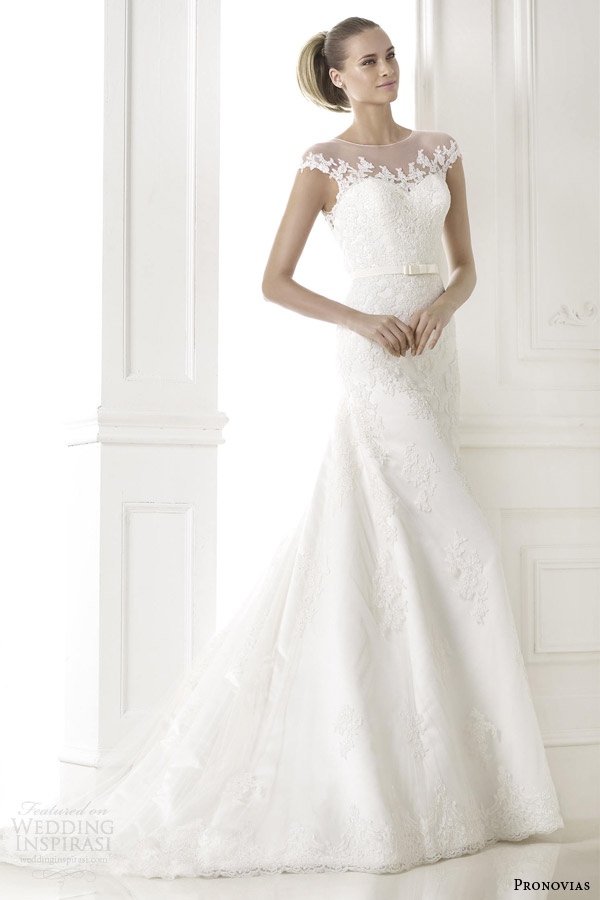 pronovias 2015 pre bridal collection botica illusion cap sleeve wedding dress